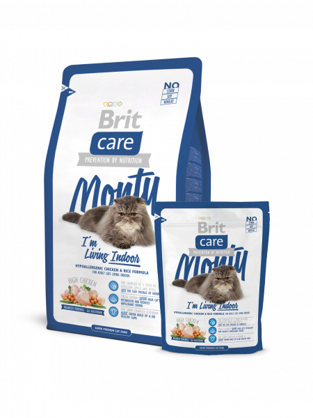 BRIT Care Cat Monty Indoor для кошек живущих в доме 7 кг