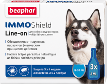 Беафар Капли IMMO Shield Line-on от паразитов для собак средних пород