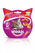 Лакомство WHISKAS® Duo Treats c говядиной и сыром 40г