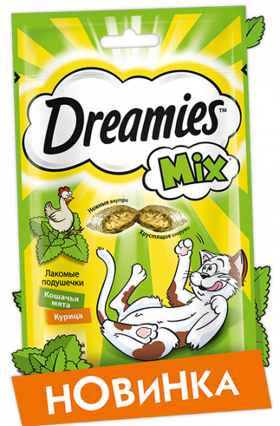 Dreamies  лакомство микс с курицей и мятой 60г