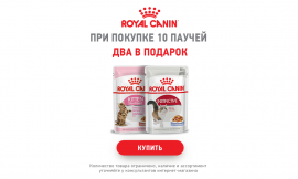Акция для кошек 10+2 ROYAL CANIN