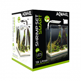 Аквариум SHRIMP SET SMART PLANT белый 20л